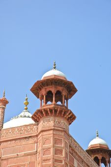 The Close Up Of The Mosque In Taj Mahal, India Royalty Free Stock Images