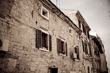 Free Dark Image Of An Old Stone House In Croatia Stock Photography - 21567992