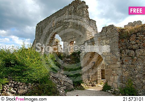 Free Ruined Wall Stock Image - 21573101