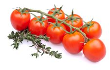 Free Cherry Tomatoes With Thyme Royalty Free Stock Images - 21572069