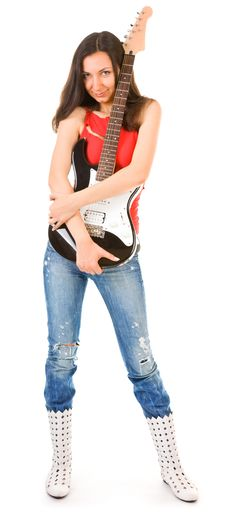 Free Girl - A Musician Stock Photography - 21572822