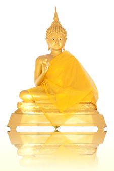 Free Isolated Brass Image Of Buddha Sitting Royalty Free Stock Photo - 21572955