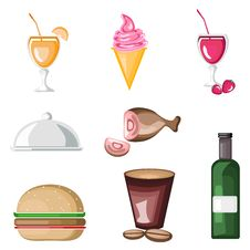 Free Food Icon Royalty Free Stock Photography - 21573707