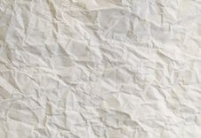 Crumpled Cream Paper Texture Royalty Free Stock Images