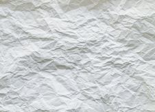 Crumpled Paper Texture Stock Image