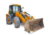 Tractor With Clipping Path Stock Images