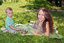 Free Mom And Son In Park Royalty Free Stock Image - 21575016