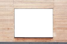 Free Banner In The Wall Of Wood Royalty Free Stock Image - 21575766