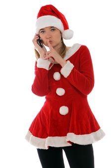 Free Santa Told Me A Secret Royalty Free Stock Image - 21575976