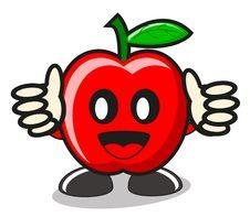 Free Funny Apple Royalty Free Stock Photos - 21576698
