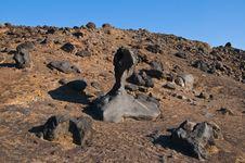 Lunar Like Desert Landscape Stock Photography