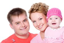 Free Happy Young Family With Beautiful Baby Stock Photos - 21578723