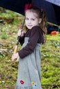 Free Young Girl With Umbrella Royalty Free Stock Photography - 21583987