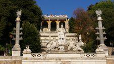 Pincio Fountain, Piazza Del Popolo. Stock Image