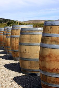 Free Wine Barrels Royalty Free Stock Image - 21582956