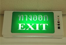 Free Fire Exit Sign Royalty Free Stock Images - 21583159