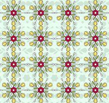 Free Flowers Vintage Pattern Wallpaper Stock Images - 21583884