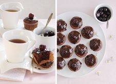 Free Breakfast With Chocolate Cup Cakes Stock Photos - 21584543