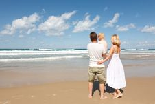 Free Family In The Mediterranean Royalty Free Stock Image - 21584636