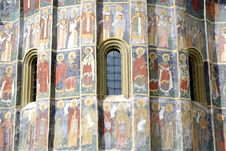 Free Fresco Old Monastery Painted Wall Sucevita Romania Royalty Free Stock Photos - 21587158