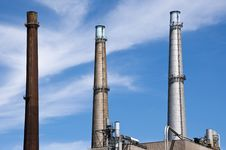 Free Power Plant Stack Stock Photos - 21588573