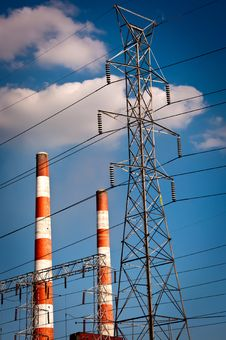 Free Power Plant Stack Stock Photography - 21588602
