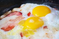 Free Bacon And Eggs Royalty Free Stock Photo - 21588645