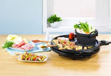 Barbecue Grill Smokeless Stove Stock Image