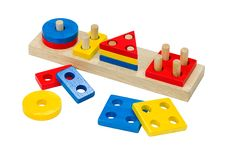 Free Wooden Toy Colorful Bricks Stock Images - 21589464