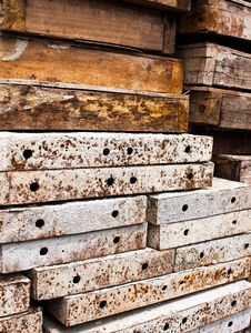 Free Iron And Wood Wall. Stock Image - 21589511