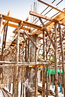 Free Wood Bracing. Royalty Free Stock Photos - 21589548