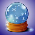Free Glass Ball With Snowflakes Stock Images - 21590694