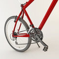 Free 3d Red Bicycle. Royalty Free Stock Photos - 21594178
