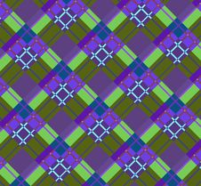Free Violet-green Plaid Fabric Royalty Free Stock Images - 21590579
