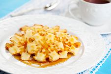 Free Christmas Snowflake Pancakes Stock Images - 21591114