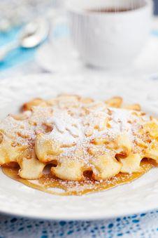 Free Christmas Snowflake Pancakes Stock Photo - 21591130