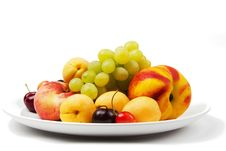 Free Fruit On A Plate Royalty Free Stock Photography - 21592997