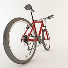 Free 3d Red Bicycle. Stock Images - 21594194