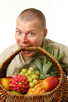 Free Man With Fruits Stock Photography - 21596202