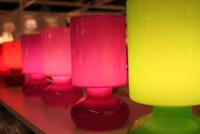 Free Lamps Colored Stock Photography - 21597212