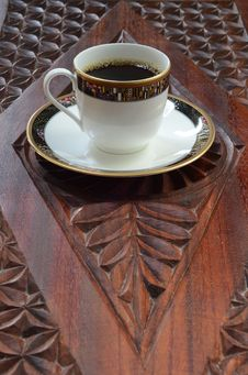 Free Coffee On Wood Royalty Free Stock Image - 21597396