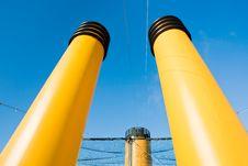 Free Three Yellow Funnels Royalty Free Stock Photos - 21599718