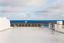 Stern Of Cruise Liner In Sea Stock Images