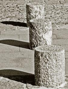 Free Stone Posts Stock Photography - 2160212