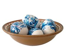 Free Blue Easter Eggs In Dish Stock Photos - 2160343