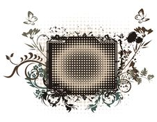 Free Floral Grunge Frame Series Royalty Free Stock Images - 2160469