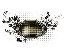 Floral Grunge Frame Series Stock Images
