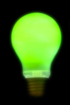Free Blurry Green Lightbulb Royalty Free Stock Images - 2160959
