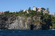 Rocks On Coast Royalty Free Stock Photo