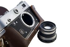 Range-finder In Leather Case Royalty Free Stock Photography